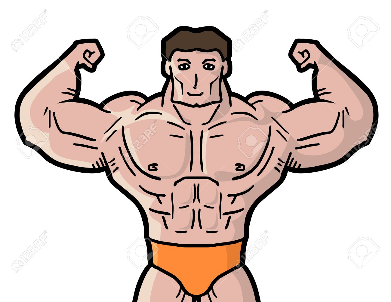 cartoon muscle man drawing at getdrawings com free for personal rh getdrawings com  clipart muscle man