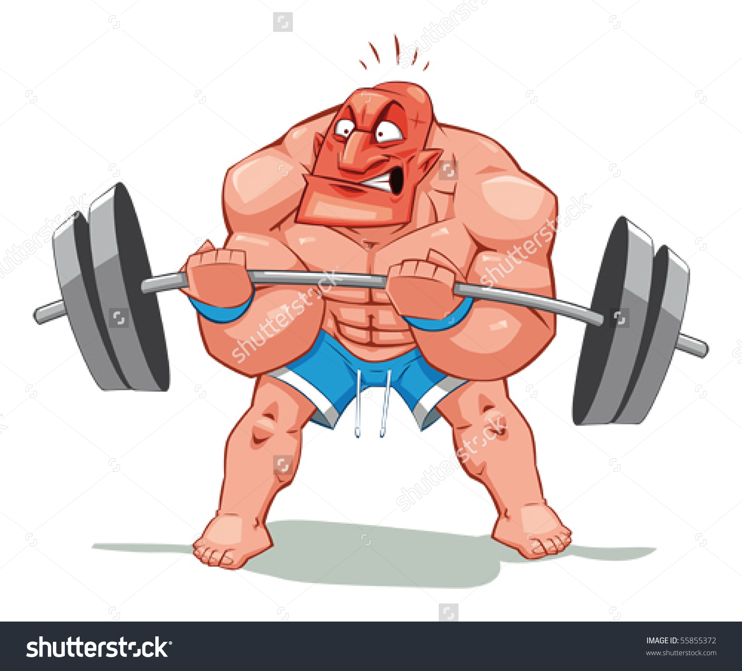 1500x1357 Stock Vector Muscle Man Funny Cartoon And Vector Character Object