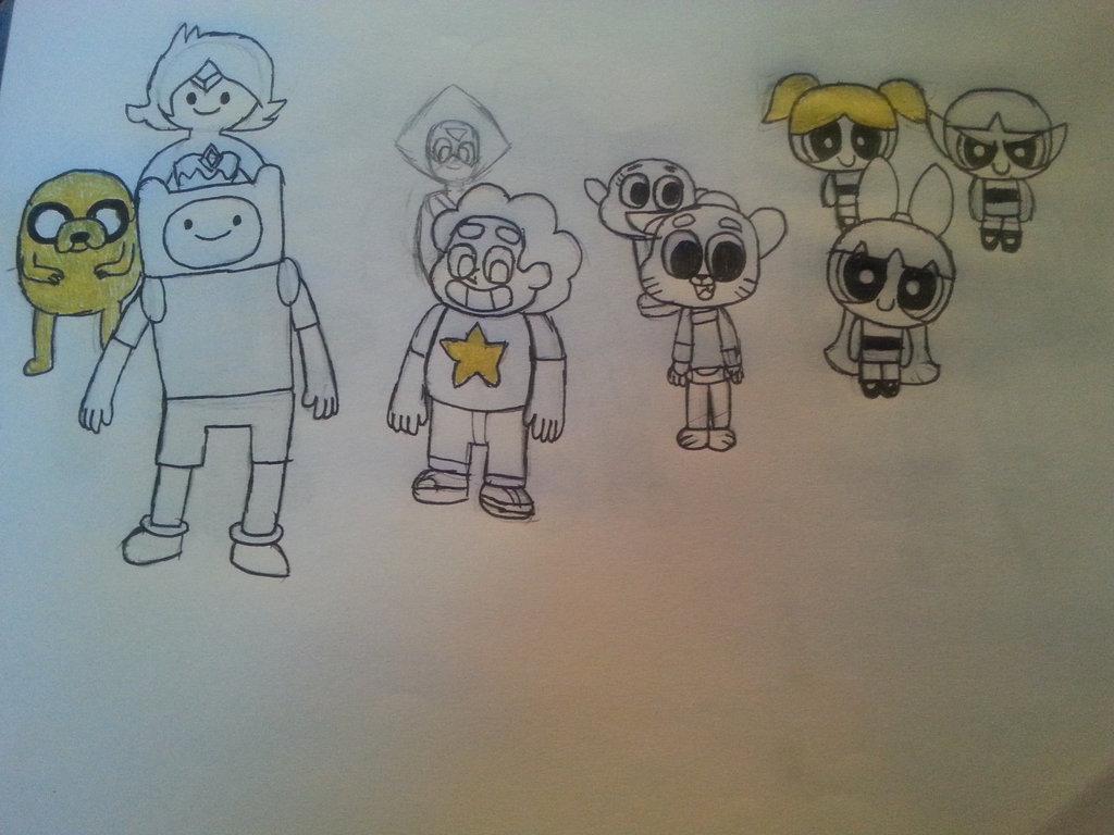 1024x768 Random Cartoon Network Drawing By Sansthesonic