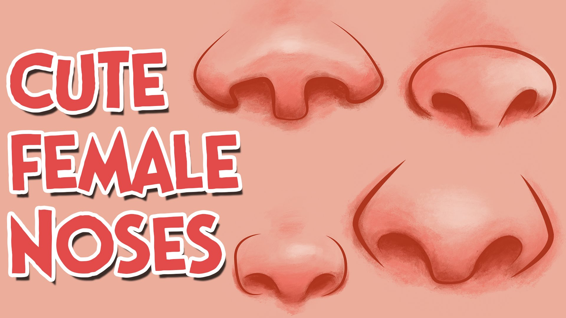 1920x1080 How To Draw Cute Girl Cartoon Noses