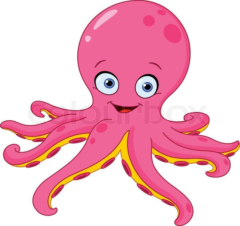 800x755 Cute Octopus Stock Vector Colourbox