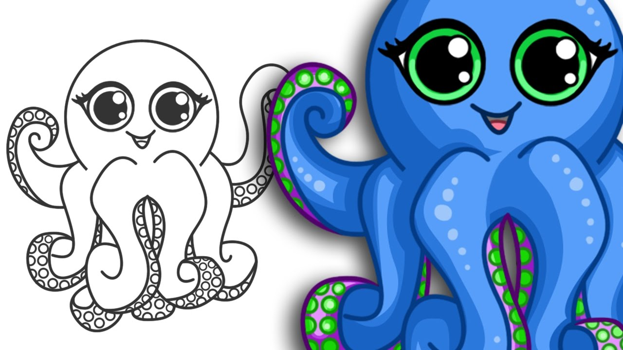 1280x720 How To Draw An Octopus Super Cute Amp Easy Step By Step Drawing