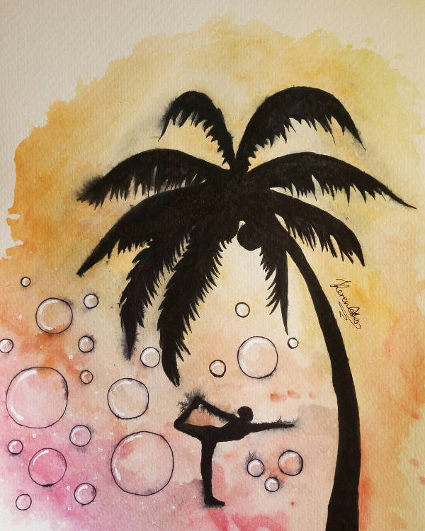 600x750 Palm Tree Drawings