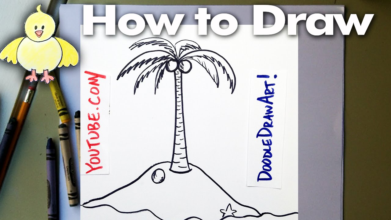 1280x720 Drawing How To Draw Cartoon Palm Tree