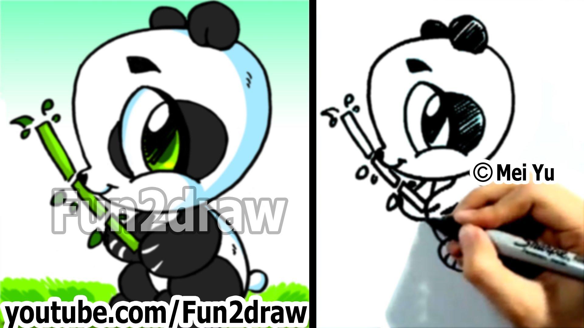 1920x1080 How To Draw A Cartoon Panda