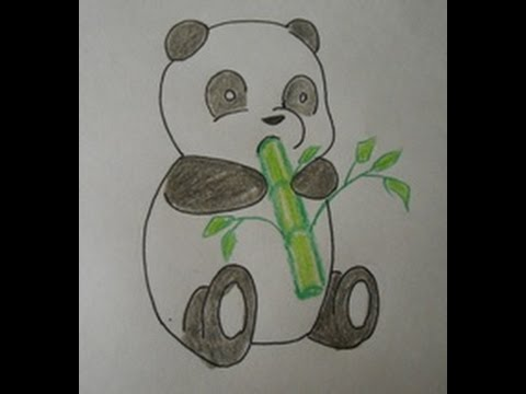 480x360 How To Draw A Cartoon Panda Baby Easy Drawing Step By Step