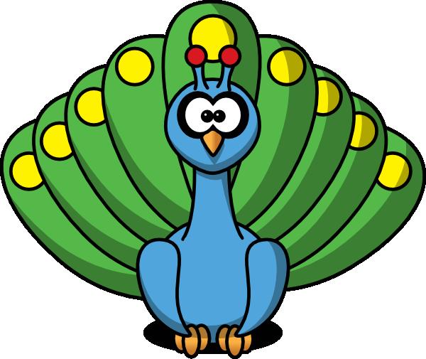 600x505 Cartoon Peacock Clip Art