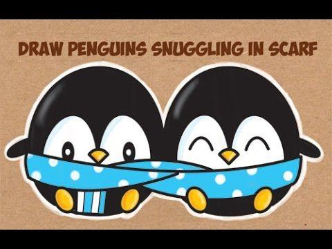 480x360 How To Draw Cute Kawaii Chibi Cartoon Penguins In A Scarf