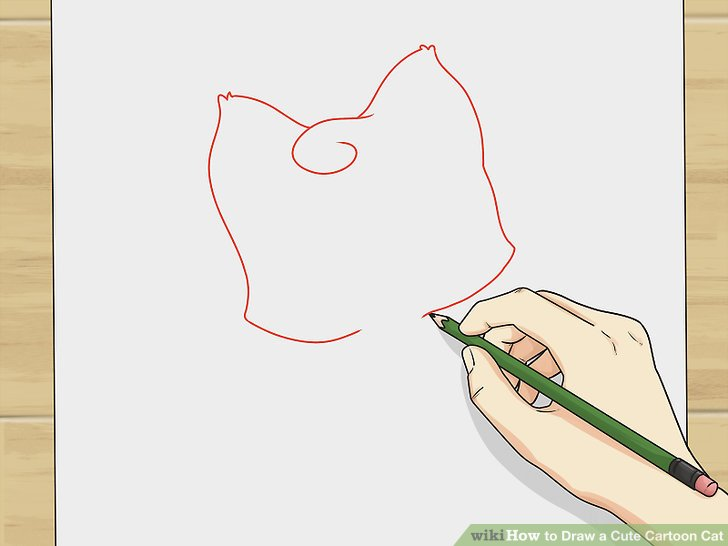 728x546 How To Draw A Cute Cartoon Cat 8 Steps (With Pictures)