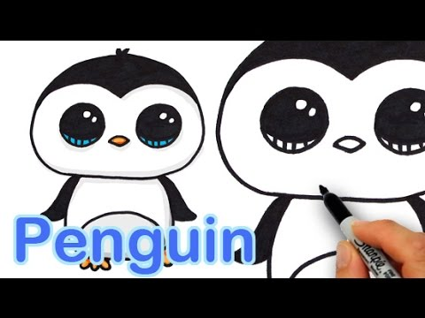 480x360 How To Draw A Cute Cartoon Penguin Easy Step By Step