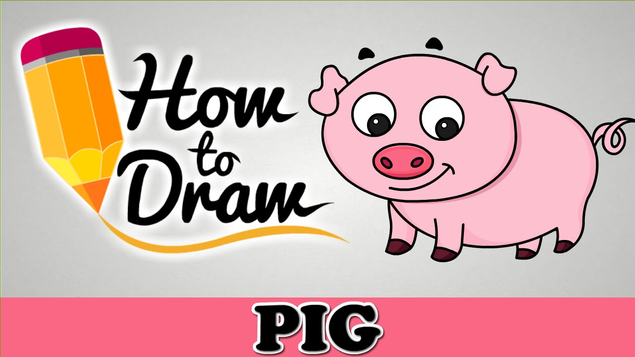 1280x720 How To Draw A Cute Pig