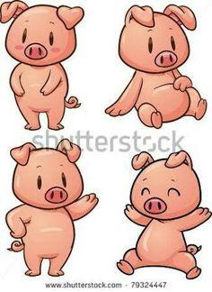 236x324 Cartoon Pig Face