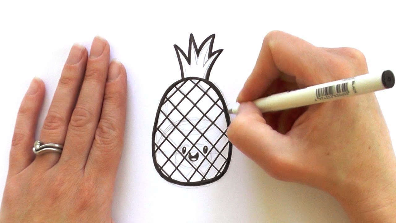 Cartoon Pineapple Drawing At Getdrawings Com Free For Personal Use