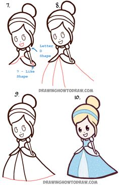 236x368 How To Draw Cute Baby Chibi Belle From Beauty And The Beast
