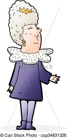 230x470 Cartoon Queen Vector Illustration