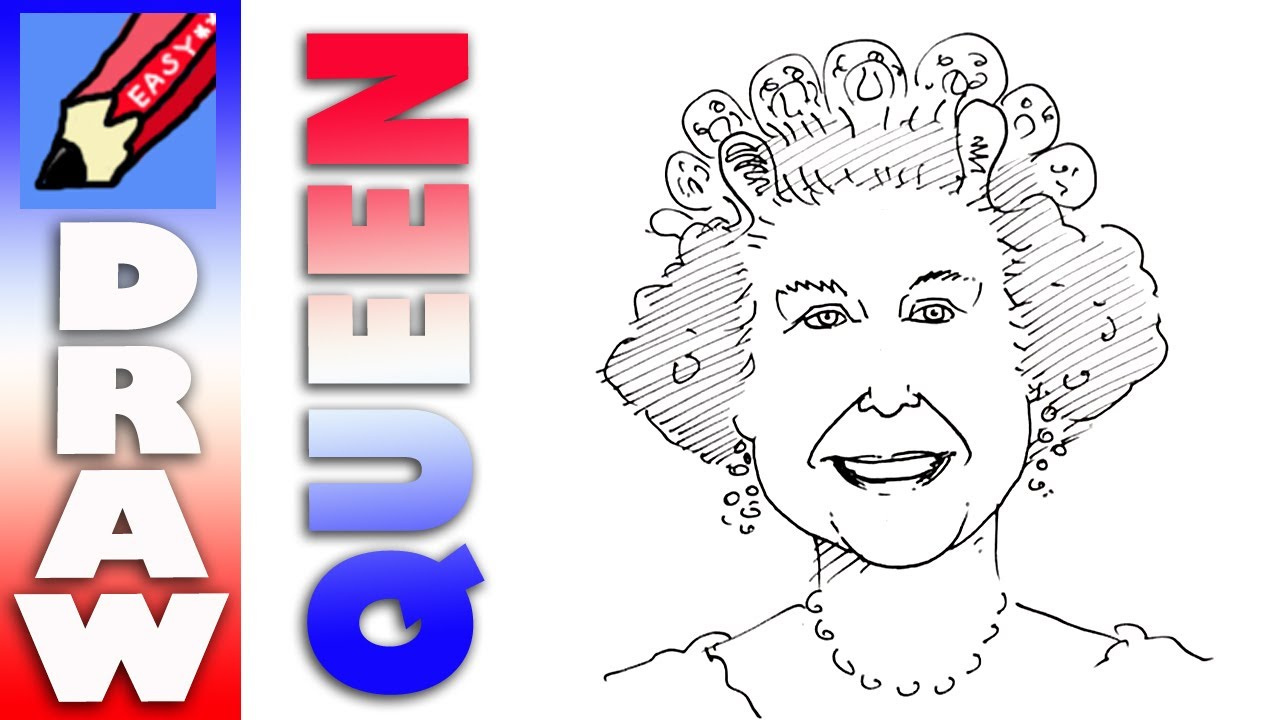 1280x720 Draw Queen Elizabeth Real Easy!