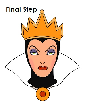 300x388 How To Draw The Evil Queen (Snow White)