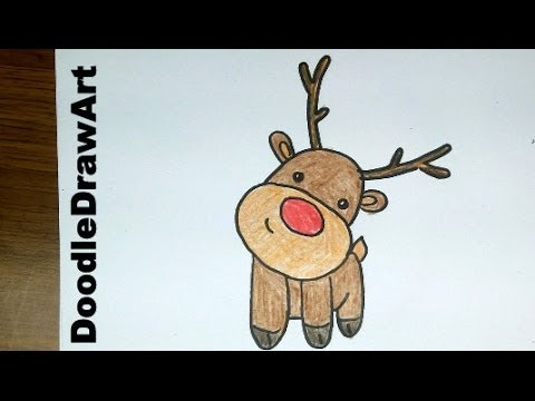 480x360 Drawing How To Draw A Cute Cartoon Rudolph Reindeer Baby