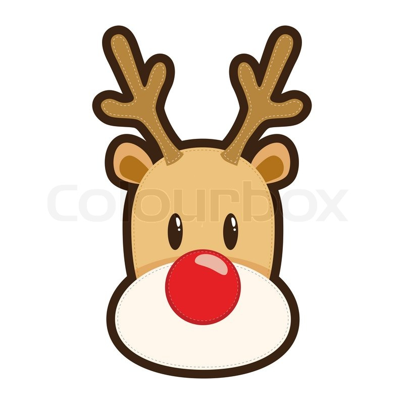 800x800 Rudolph The Red Nosed Reindeer Face Drawing Paper Caprintable