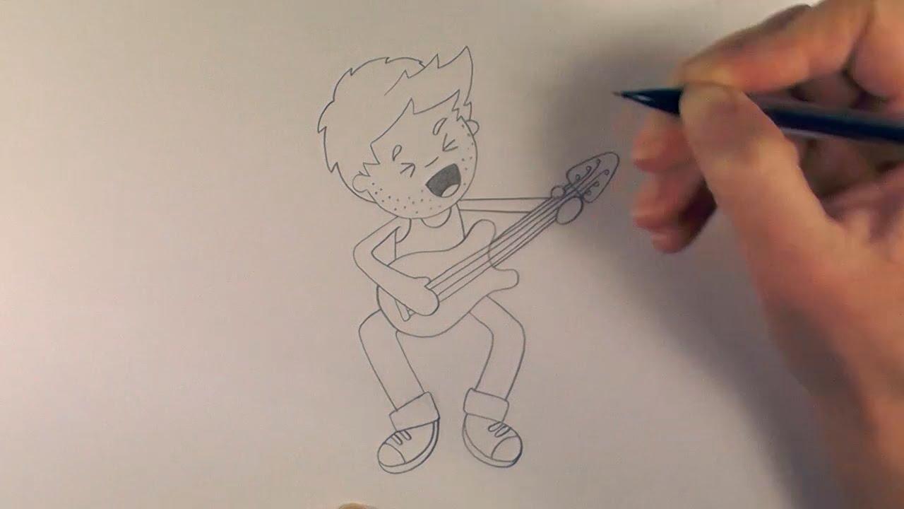1280x720 R.e.a.p How To Draw A Cartoon Rock Star