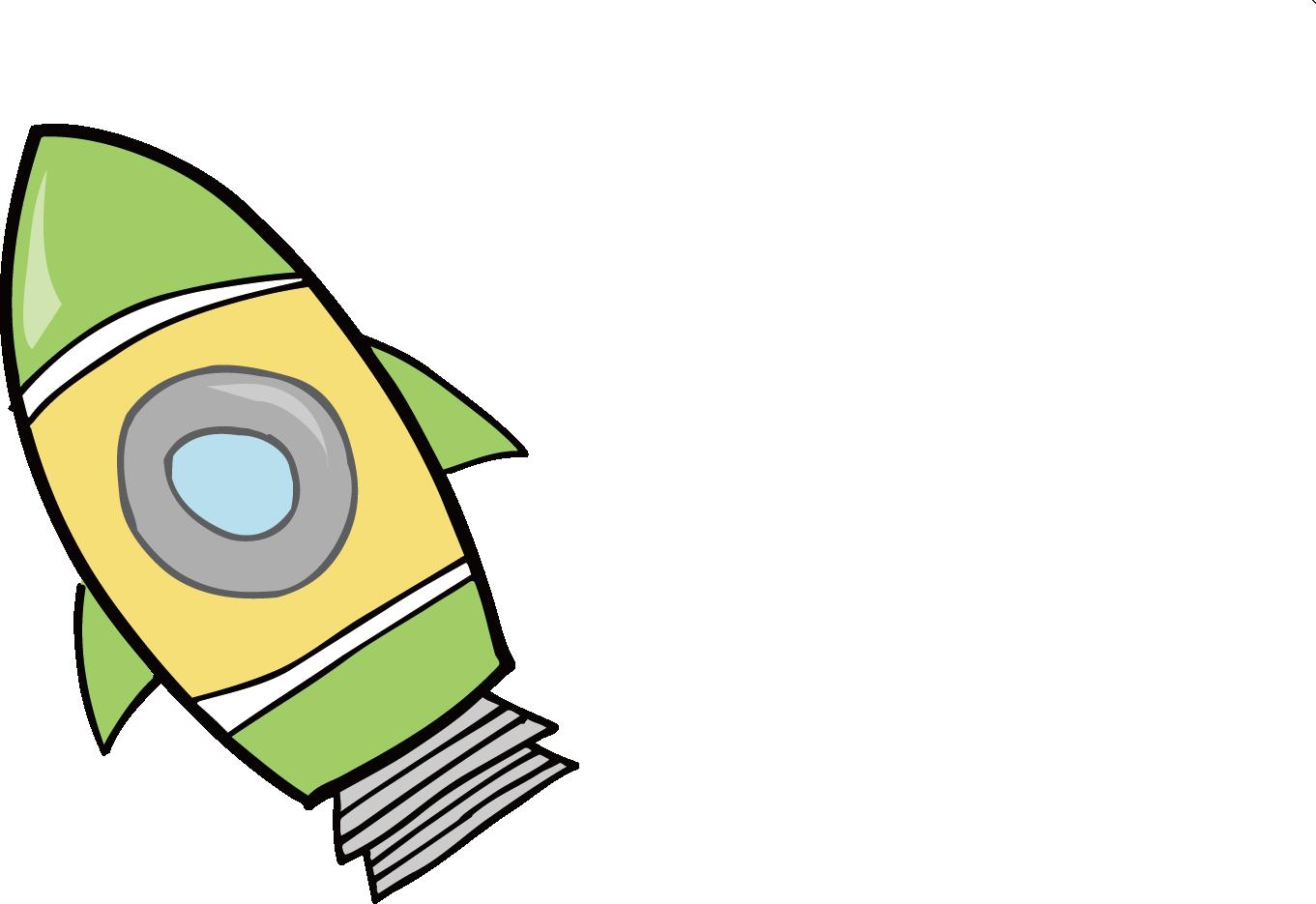 1361x935 Cartoon Rocket Drawing