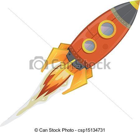 450x427 Comic Rocket Ship
