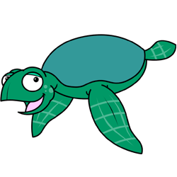 250x250 How To Draw A Turtle Cartoon Lesson
