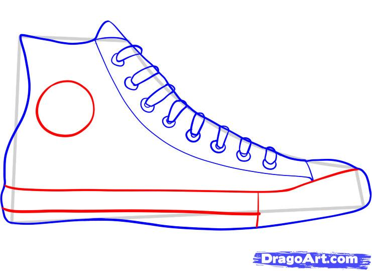 741x539 how to draw converse how to draw chuck taylors step 5