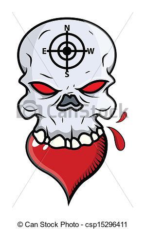 298x470 Heart Eating Skull