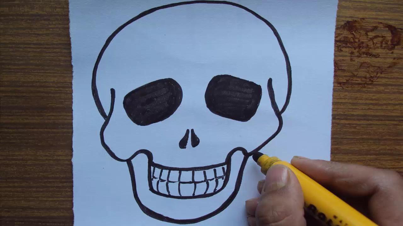 1280x720 How To Draw A Cartoon Skull