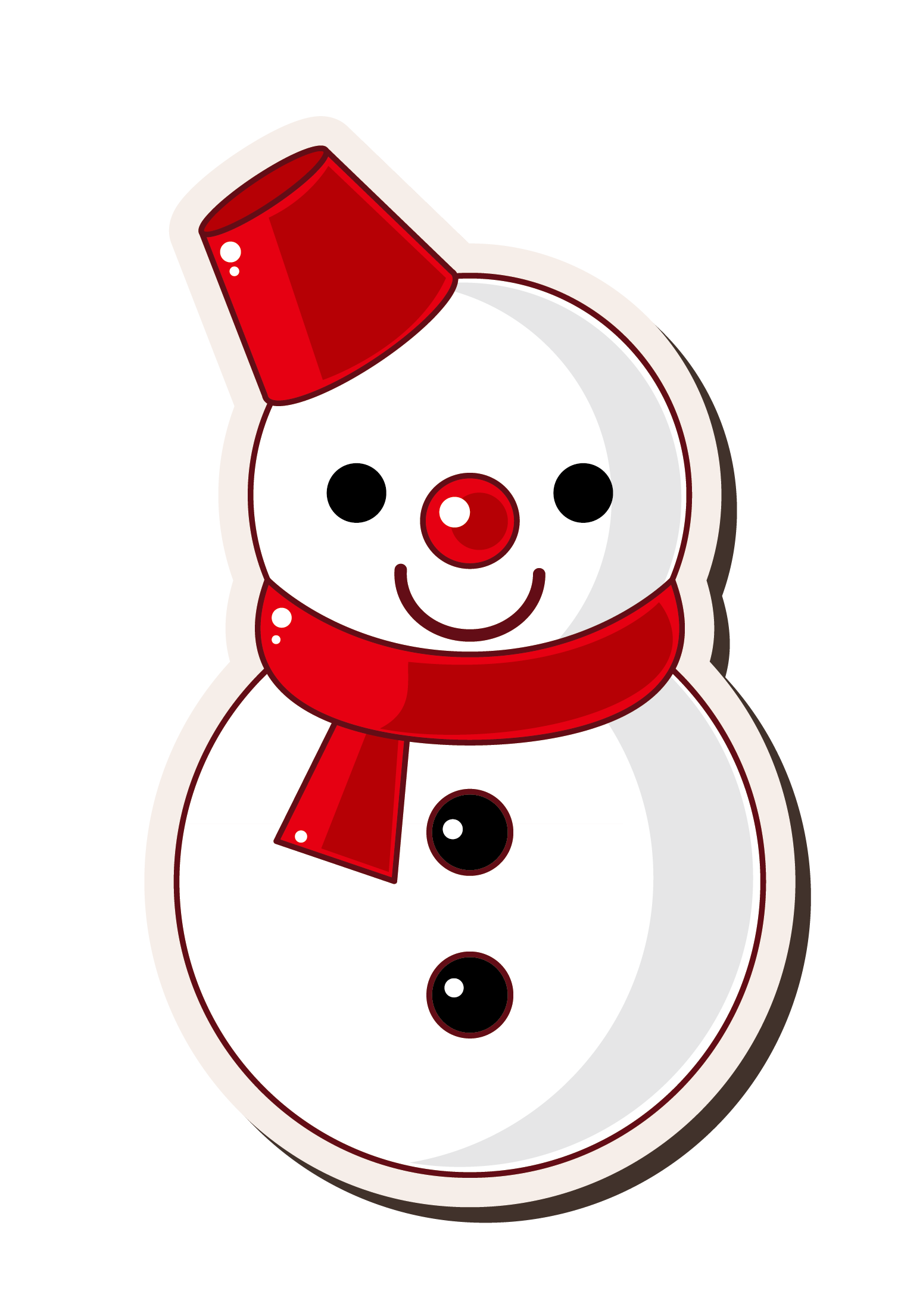 Cartoon Snowman Drawing at GetDrawings.com | Free for personal use ...