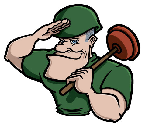 500x420 Cartoon Soldier With Plunger Coghill Cartooning
