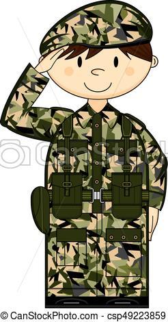 246x470 Cartoon Army Soldier Saluting. Cute Cartoon British Army
