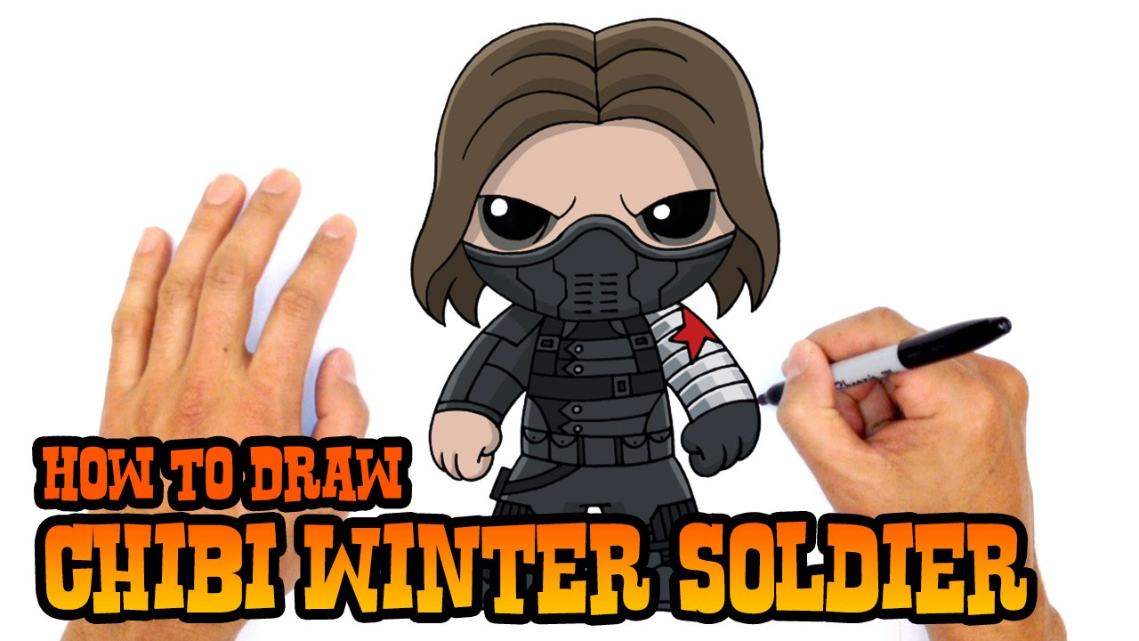 1280x720 How To Draw Winter Soldier The Avengers
