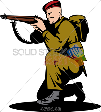 340x377 Stock Illustration Of Cartoon Drawing Of Soldier Wearing Beret