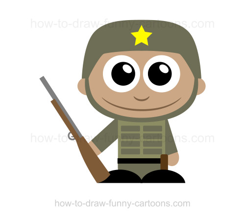 500x445 To Draw A Soldier