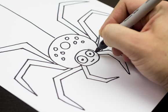 580x387 How To Draw A Spider