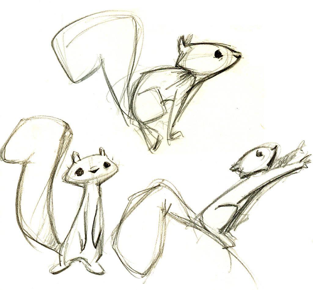 1024x948 Brittney Lee. Cutest Squirrel Illustrations. Drawings