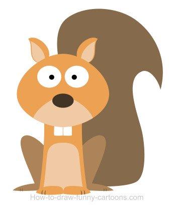 350x416 Drawing A Squirrel Cartoon