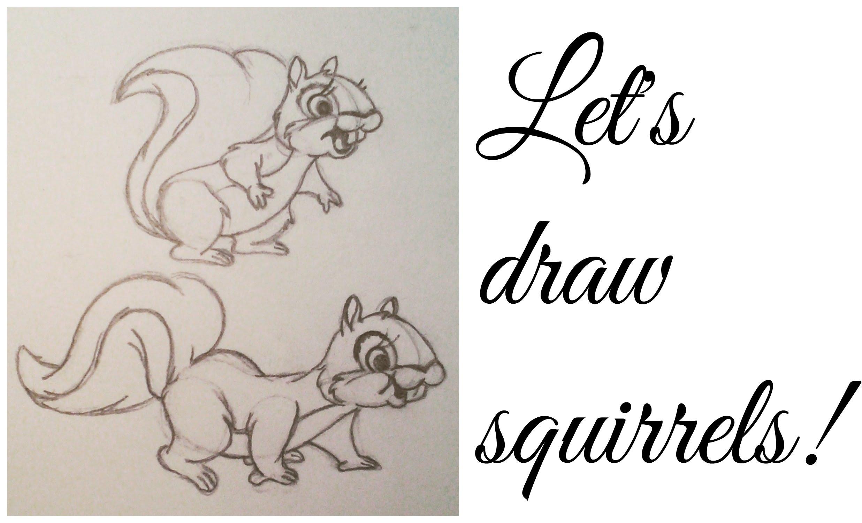 2473x1500 Let's Draw Cartoon Squirrels!