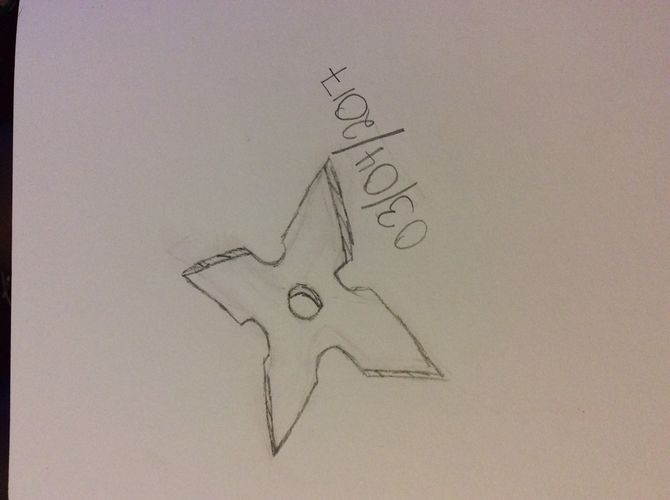 670x500 How To Draw A Ninja Star 14 Steps (With Pictures)