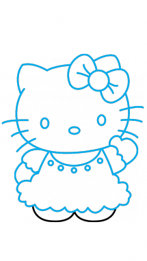 215x382 How To Draw Hello Kitty, Cartoons, Easy Step By Step Drawing Tutorial