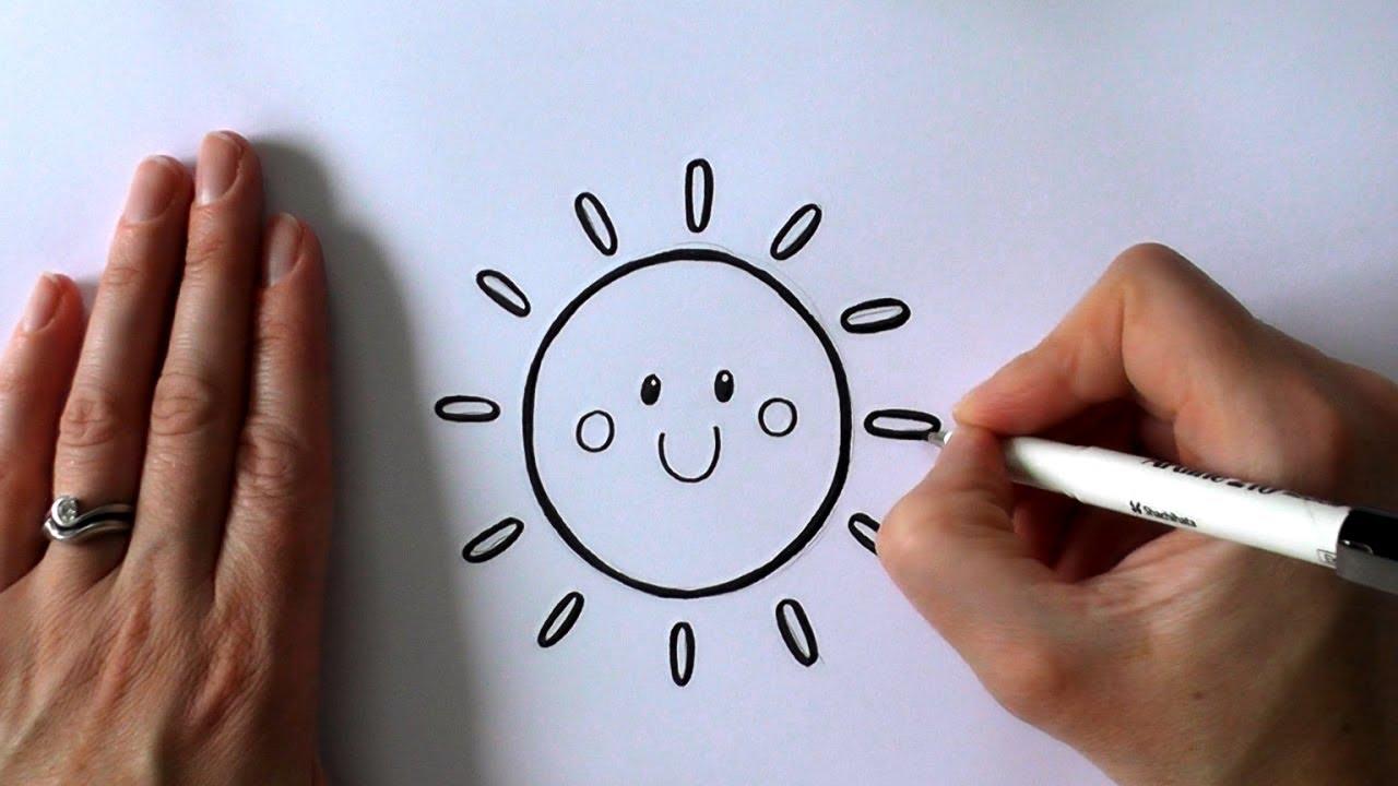 1280x720 How To Draw A Cartoon Sun