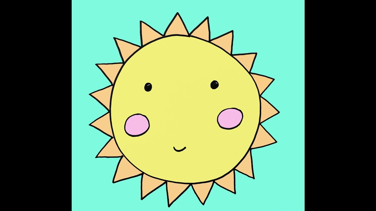 1280x720 How To Draw A Cartoon Sun Step By Step Easy Drawing Tutorial