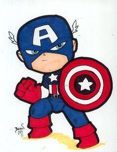 236x307 Captain America Cute Drawing Get Creative Capt