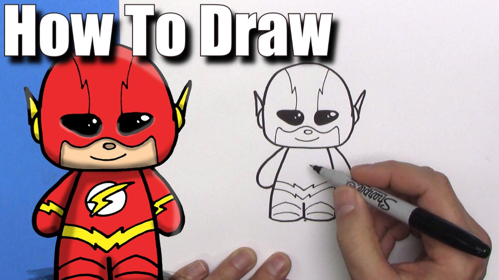 1920x1080 How To Draw A Cute Cartoon The Flash
