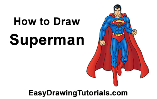 500x315 How To Draw Superman (Full Body)