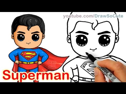 480x360 How To Draw Superman Man Of Steel Cute Step By Step