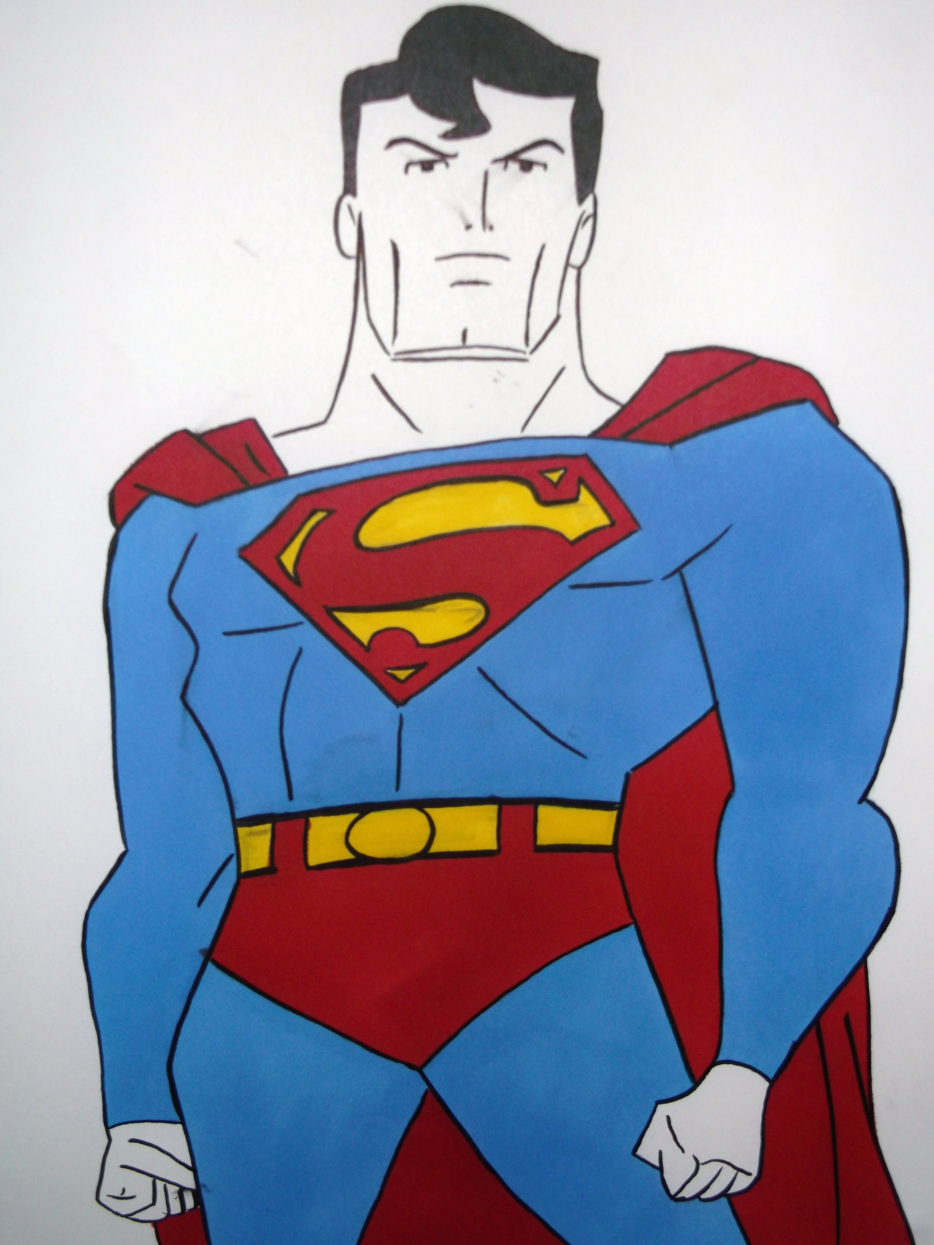 3216x4288 Superman Cartoon Drawing Superman Drawing