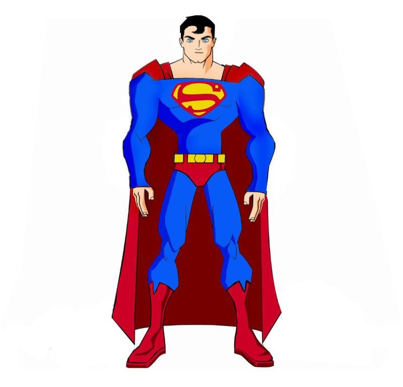 800x767 Superman Drawn In The Batman Artstyle